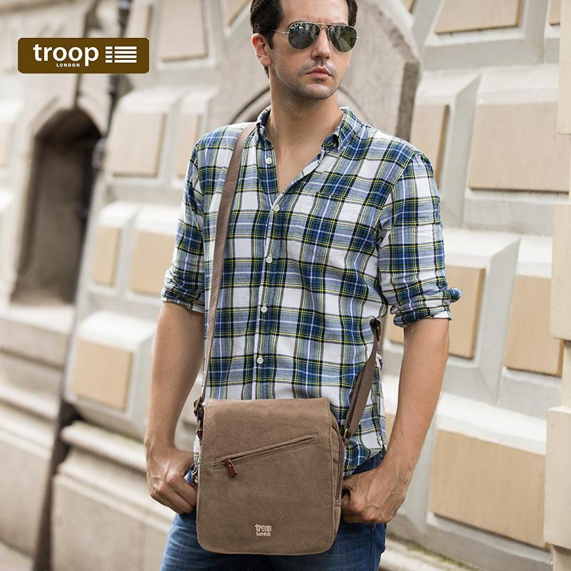 TRP0238 Troop London Classic Canvas Across Body Bag - Troop London