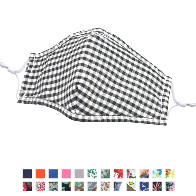 Face Coverings - Reusable Cotton Face Masks Curved Shape With Nose Wire - Troop London