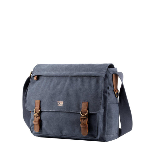 TRP0207 Troop London Classic Canvas Laptop Messenger Bag - troop-london-official