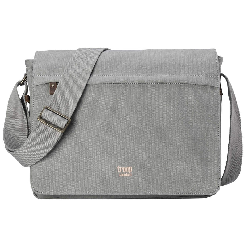 TRP0240 Troop London Classic Canvas Laptop Messenger Bag