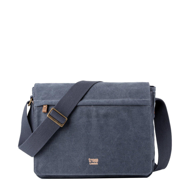 TRP0240 Troop London Classic Canvas Laptop Messenger Bag - troop-london-official