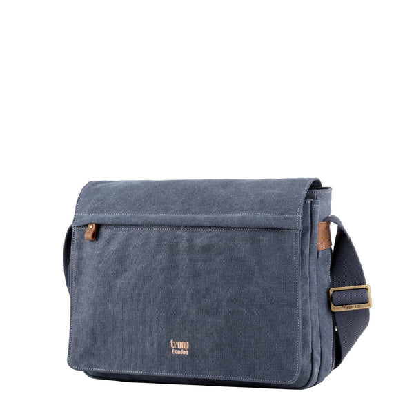 TRP0240 Troop London Classic Canvas Laptop Messenger Bag - Troop London