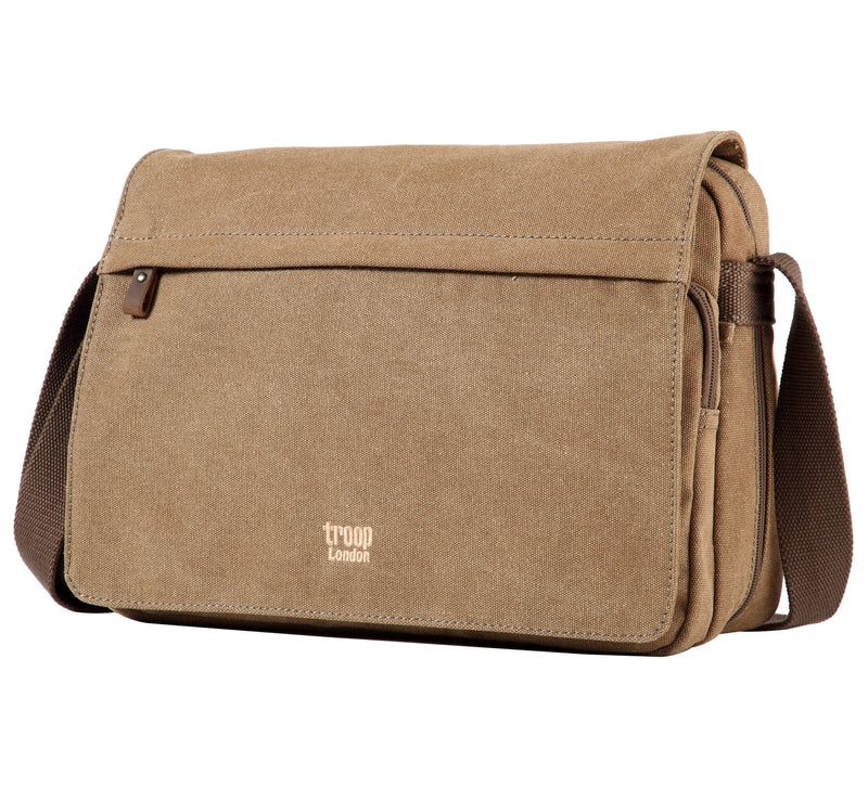 TRP0241 Troop London Classic Canvas Messenger Bag - Troop London