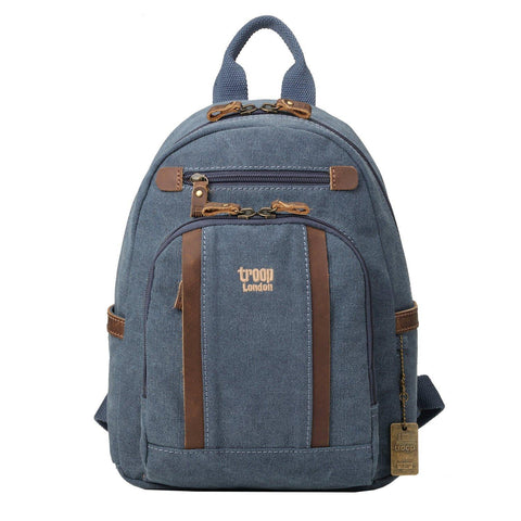 TRP0255 Troop London Classic Canvas Backpack - Small - troop-london-official