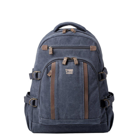 TRP0257 Troop London Classic Canvas Laptop Backpack - Large - troop-london-official