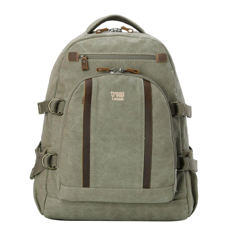 TRP0257 Troop London Classic Canvas Laptop Backpack - Large