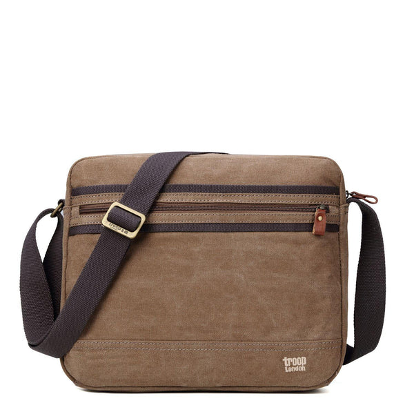 TRP0391 Troop London Classic Canvas Messenger Bag, Tablet Friendly - Troop London
