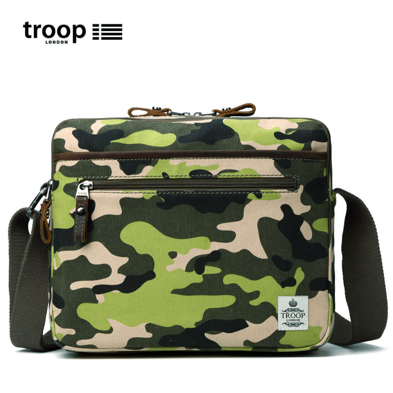 TRP0404 Troop London Urban Canvas Shoulder Bag, Tablet Friendly Across Body Bag
