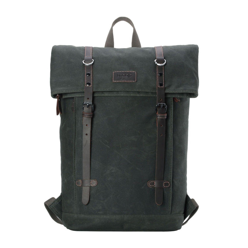 "TRP0425 Troop London Heritage Canvas 15"" Laptop Backpack, Smart Casual Daypack with Foldable Top"