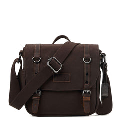 TRP0427 Troop London Heritage Canvas Shoulder Bag, Across Body Bag, Smart Travel Bag with Top Handle - troop-london-official