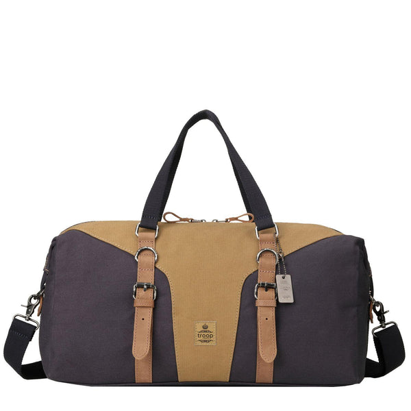 TRP0432 Troop London Heritage Canvas Travel Duffel Bag, Canvas Holdall, Gym Bag - Troop London