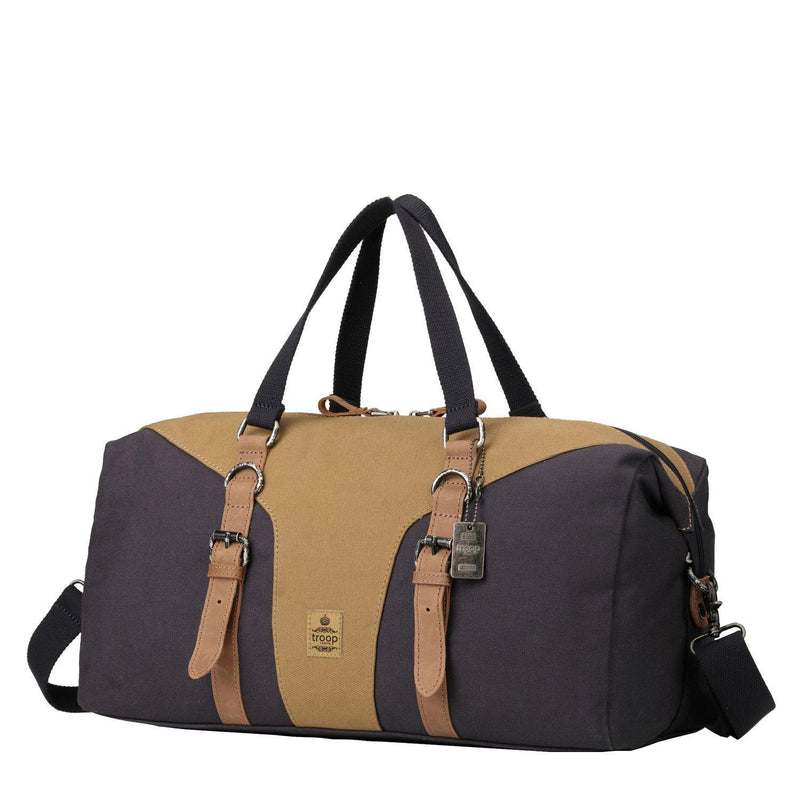 TRP0432 Troop London Heritage Canvas Travel Duffel Bag, Canvas Holdall, Gym Bag - troop-london-official