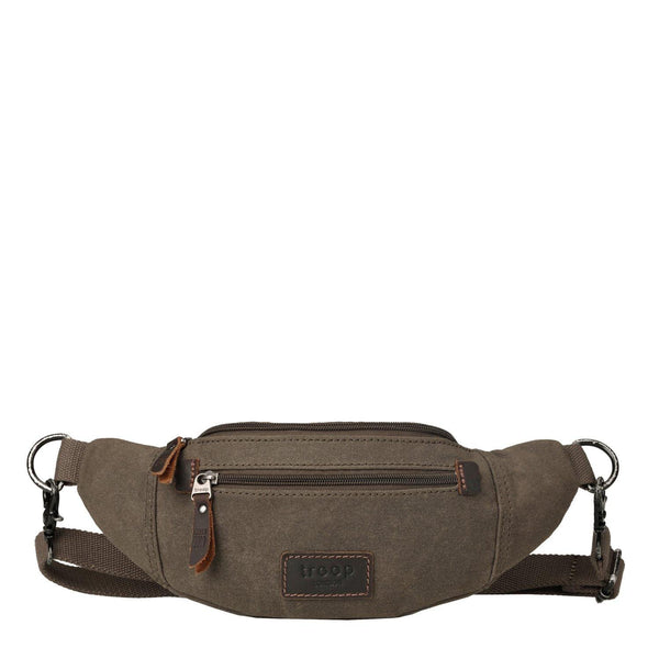 TRP0437 Troop London Heritage Canvas Waist Bag, Bumbag, Hip Pack - Troop London