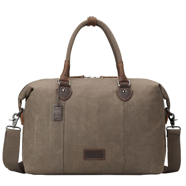 TRP0438 Troop London Heritage Canvas Travel Duffel Bag, Canvas Holdall, Gym Bag - troop-london-official