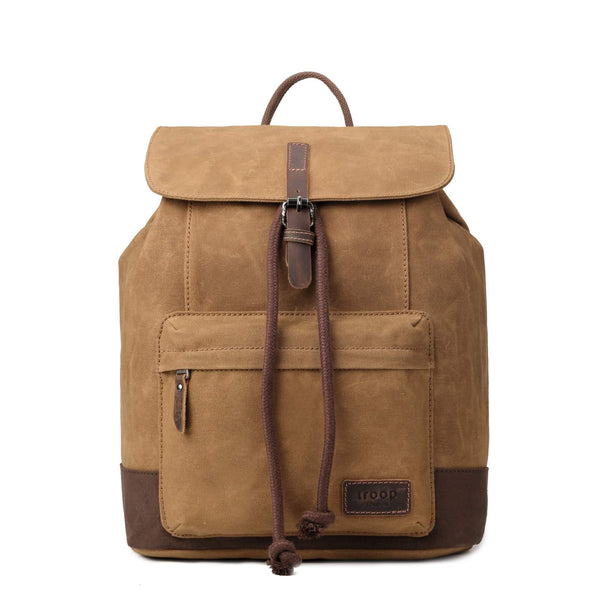 TRP0442 Troop London Heritage Canvas Laptop Backpack, Smart Casual Daypack, Tablet Friendly Backpack - Troop London