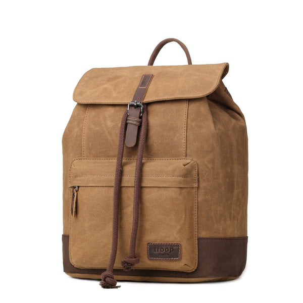 TRP0442 Troop London Heritage Canvas Laptop Backpack, Smart Casual Daypack, Tablet Friendly Backpack