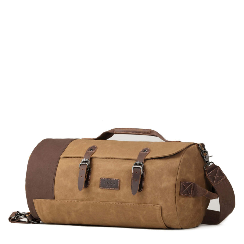TRP0444 Troop London Heritage Canvas Travel Duffel Bag, Backpack, Canvas Holdall, Gym Bag - Troop London