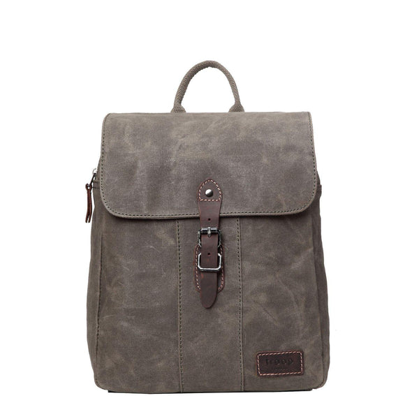 TRP0446 Troop London Heritage Canvas Backpack, Canvas Smart Casual Day-pack, Tablet Friendly Backpack - Troop London