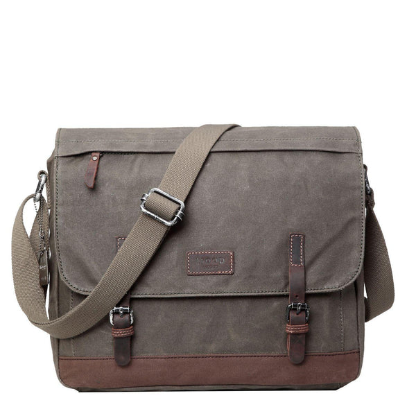"TRP0447 Troop London Heritage Canvas Laptop Messenger Bag - 18"" Diagonally"