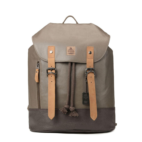 TRP0448 Troop London Heritage Canvas Laptop Backpack, Smart Casual Day-pack, Tablet Friendly Backpack - Troop London