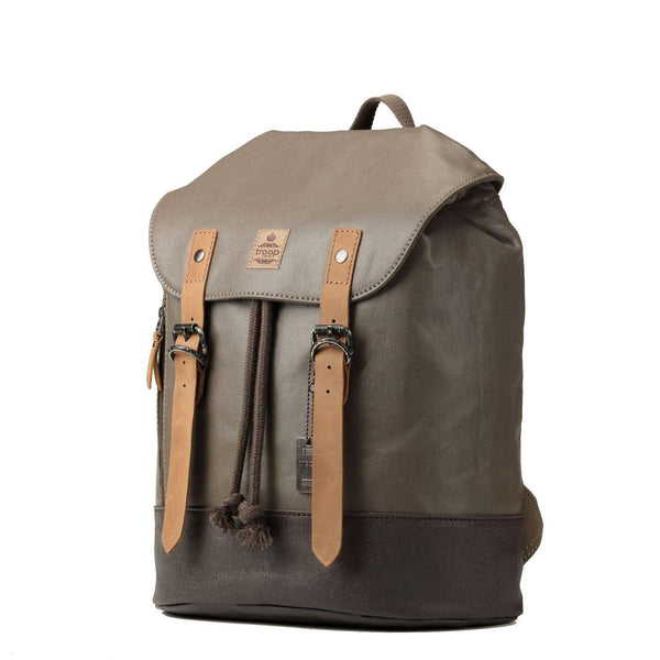 TRP0448 Troop London Heritage Canvas Laptop Backpack, Smart Casual Daypack, Tablet Friendly Backpack