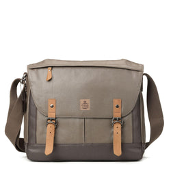 TRP0449 Troop London Heritage Canvas Laptop Messenger Bag, Laptop Travel Bag - Troop London
