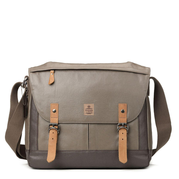 TRP0449 Troop London Heritage Canvas Laptop Messenger Bag, Laptop Travel Bag - troop-london-official