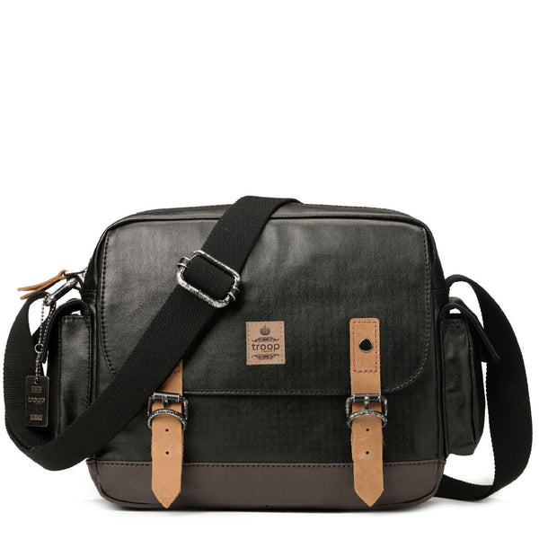 TRP0450 Troop London Heritage Canvas Messenger Bag, Travel Bag, Tablet Friendly - troop-london-official