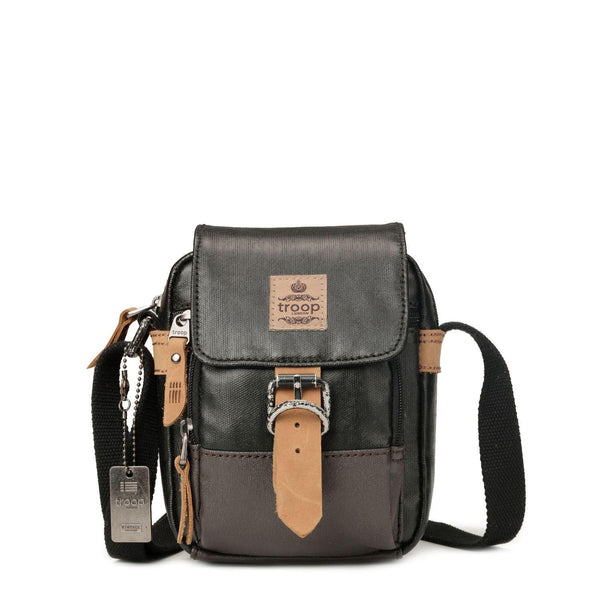 TRP0451 Troop London Heritage Canvas Across body Bag, Small Travel Bag - troop-london-official