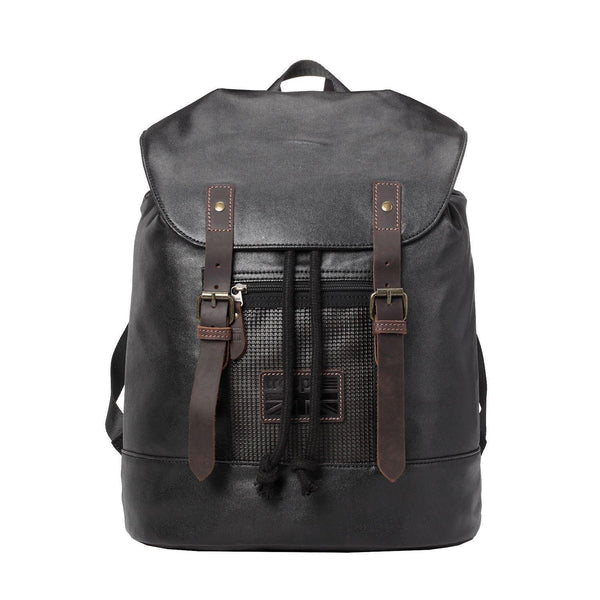 TRP0455 Troop London Heritage Canvas Laptop Backpack, Smart Casual Day-pack, Tablet Friendly Backpack - Troop London