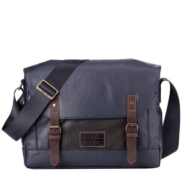 TRP0456 Troop London Heritage Canvas Laptop Messenger Bag, Laptop Travel Bag