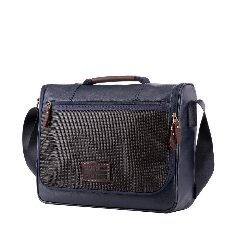TRP0460 Troop London Heritage Canvas Laptop Messenger Bag, Smart Travel Bag Tablet Friendly