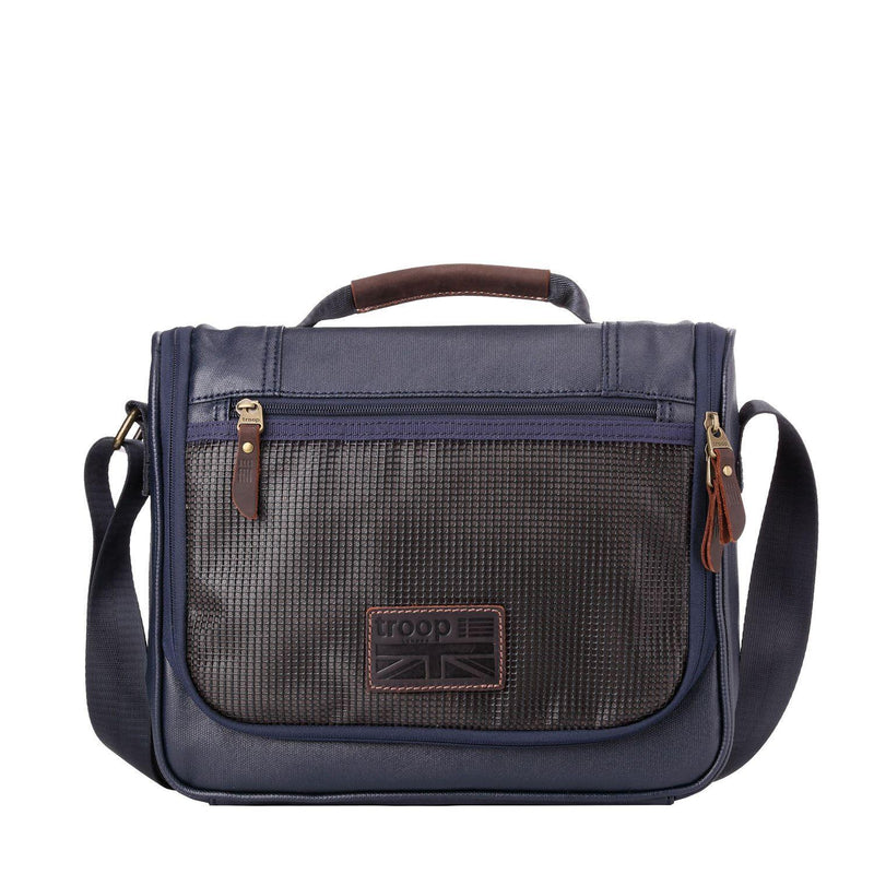 TRP0461 Troop London Heritage Canvas Small Messenger Bag, Smart Travel Bag Tablet Friendly - troop-london-official