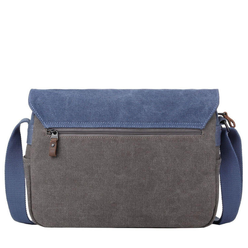TRP0463 Troop London Heritage Waxed Canvas Messenger Bag, Smart Travel Bag Tablet Friendly - Troop London