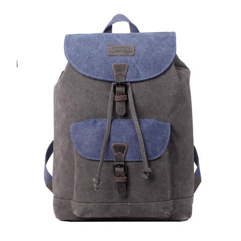 TRP0464 Troop London Heritage Waxed Canvas Laptop Backpack, Casual Daypack - troop-london-official