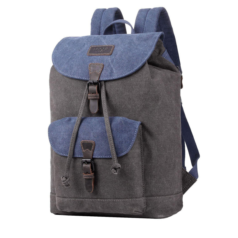 TRP0464 Troop London Heritage Waxed Canvas Laptop Backpack, Casual Daypack