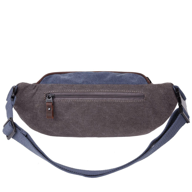 TRP0468 Troop London Heritage Waxed Canvas Casual Waist Bag - Troop London