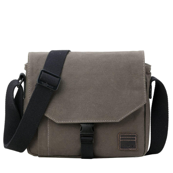 TRP0471 Troop London Heritage Waxed Canvas Small Across Bag, Slim Travel Bag - troop-london-official