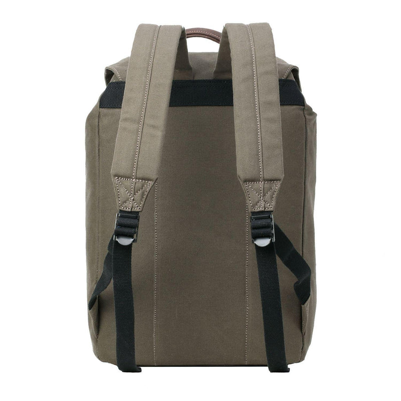 TRP0472 Troop London Heritage Waxed Canvas Laptop Backpack, Casual Daypack for Travel and Work - Troop London
