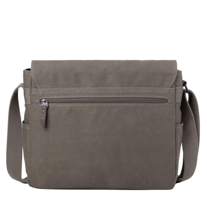 TRP0489 Troop London Heritage Waxed Canvas Laptop Messenger Bag, Canvas Bag for Travel and Work - troop-london-official