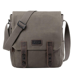 TRP0490 Troop London Heritage Tablet Messenger Canvas Bag For Travel And Work