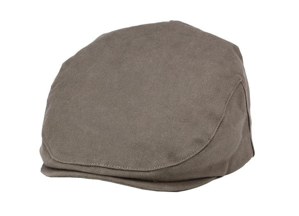 TRP0503 Troop London Accessories Waxed Canvas Old School Style Hat, Flat Cap, Shelby Newsboy Cap - Troop London
