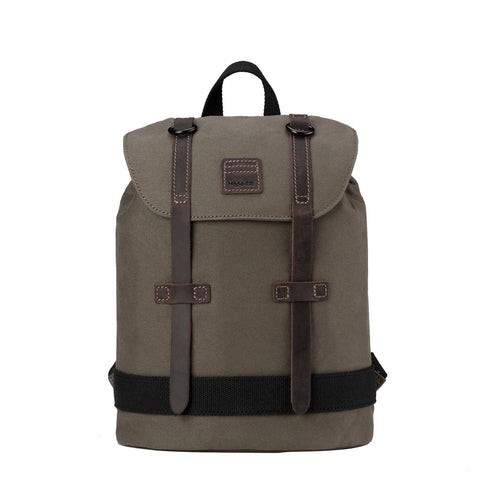 TRP0512 Troop London Heritage Waxed Canvas Daypack (Olive) - troop-london-official