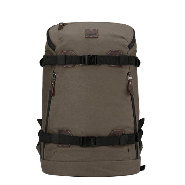 TRP0513 Troop London Heritage Waxed Canvas Daypack - Troop London