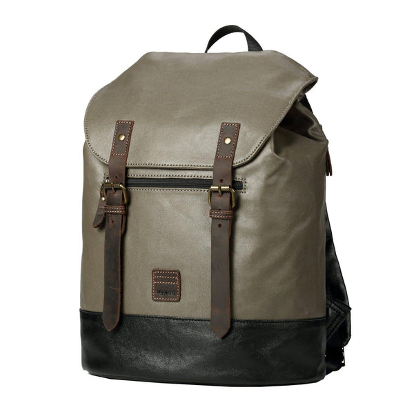 TRP0514 Troop London Heritage Coated Canvas Casual Daypack, Laptop Backpack - troop-london-official