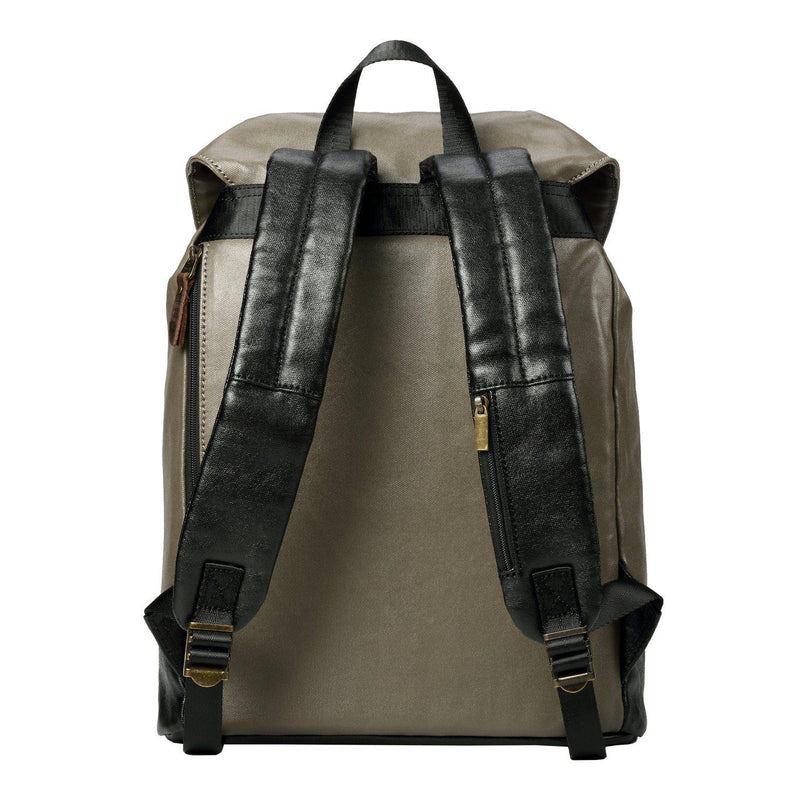 TRP0514 Troop London Heritage Coated Canvas Casual Daypack, Laptop Backpack - Troop London