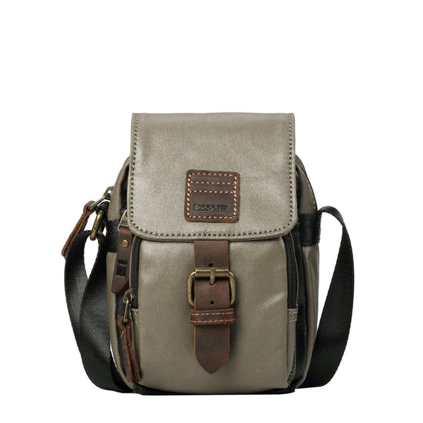 TRP0515 Troop London Heritage Coated Canvas Casual Crossbody Bag, Small Acrossbody Bag - troop-london-official