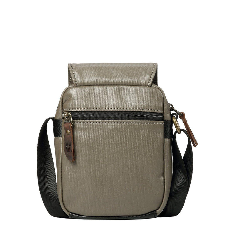TRP0515 Troop London Heritage Coated Small Casual Crossbody Canvas Bag