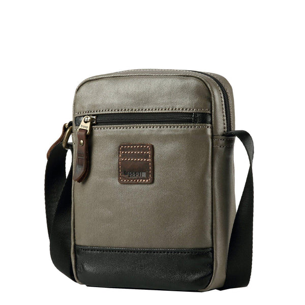 TRP0516 Troop London Heritage Coated Canvas Casual Crossbody Bag, Small Acrossbody Bag - troop-london-official