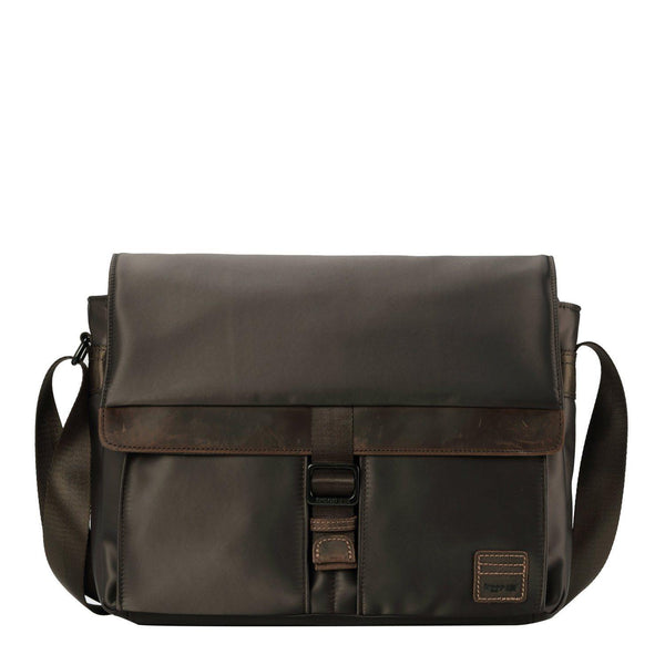 TRP0524 Troop London Heritage Nylon Messenger Bag, Laptop Messenger Bag